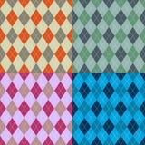 Satz Mustertischdecken stilvoll ein Illustrationsdesign Vektor lizenzfreie abbildung