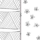 Satz nahtlose Gekritzelmuster von Hand gezeichnete dekorative Elemente im Vektor Muster für Malbuch Rebecca 6 Lizenzfreie Stockbilder