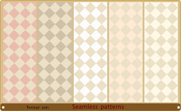 Satz nahtlose geometrische Muster Lizenzfreies Stockbild