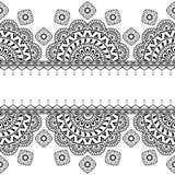 Satz nahtlose Indigomuster im Blau für Bodenfliesen, dekorative Sammlung für glasig-glänzendes keramisches Nette Vögel eingestell Lizenzfreie Stockbilder