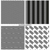 Satz nahtlose Muster - abstrakte unterbrochene Linien Lizenzfreie Stockbilder