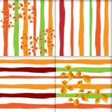 Satz nahtlose Muster der Fallblumenweinlese Stockfotos