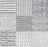 Satz nahtlose Muster des Gekritzels Lizenzfreies Stockfoto