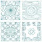 Satz nahtlose Muster - Guilloche Ornamental Elemente Stockfoto