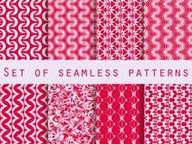 Satz nahtlose Muster mit geometrischen Formen Das Muster für Tapete, Fliesen, Gewebe und Designe Lizenzfreie Stockbilder