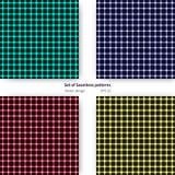 Satz nahtlose Muster mit plasmatischen Zellen entwerfen Stockfotos