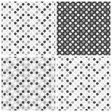 Satz nahtlose Muster mit Punkten Stockbilder