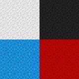 Satz nahtlose Muster mit traditioneller Verzierung Lizenzfreies Stockfoto