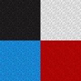 Satz nahtlose Muster mit traditioneller Verzierung Lizenzfreies Stockbild