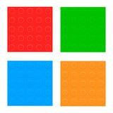 Satz nahtlose Muster. Plastikerbauer-Blöcke Lizenzfreie Stockbilder