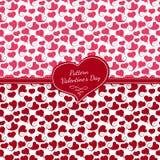 Satz nahtlose Muster in zwei Farben Rosa und Lizenzfreie Stockbilder