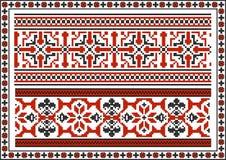Satz nahtlose ukrainische traditionelle Muster Lizenzfreie Stockfotos