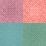 Satz nahtlosen abstrakten Musters 4 im geometrischen Stil Lizenzfreies Stockfoto