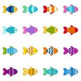 Satz nette Fische, Illustration lizenzfreie abbildung