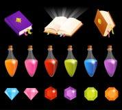 Satz nette Illustrationen mit magischem Thema Stockbild