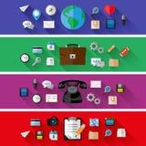 Satz Netz- und Geschäftskonzepte Flaches Design Lizenzfreie Stockfotos
