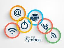 Satz Netzzeichen und -symbole Lizenzfreies Stockbild