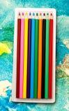 Satz neue bunte Bleistifte Lizenzfreie Stockbilder