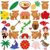 Okinawa-Illustrationen. Lizenzfreie Stockfotos