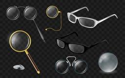 Satz Optik - realistischer Clipart des modernen Vektors lizenzfreie abbildung