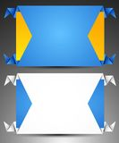 Satz Origaminetzfahnen. Stockbilder