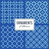 Satz Ost-nahtlose Verzierungs-Muster Marokkos Stockfoto