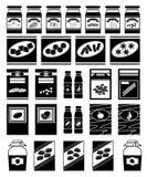 Satz Pakete für Produkte Lizenzfreie Stockfotografie