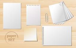 Satz Papierblätter Lizenzfreies Stockbild