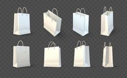 Satz Papiereinkaufstascheverpacken Lizenzfreie Stockbilder