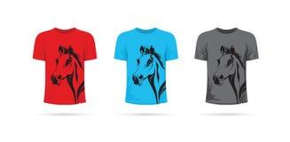 Satz Pferdet-shirts Stockfotografie