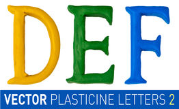 Satz Plasticinebuchstaben des englischen Alphabetes Stockbilder
