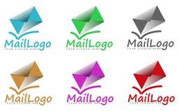 Satz Postzeichen oder -logos Lizenzfreies Stockbild