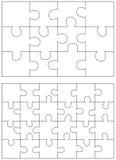 Satz Puzzlespielstücke Satz von Puzzlespiel 12, 24 Stockfotos