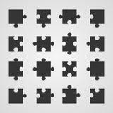 Satz Puzzlespielteile, Illustration vektor abbildung