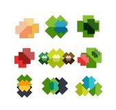 Satz quere geometrische Formen - Symbole Stockbilder