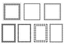Satz Rahmen Stockfotografie