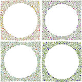 Satz Rahmen gekritzel Grußkartenschablone, Hand gezeichnetes vecto Stockfotografie