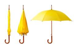 Satz Regenschirme Lizenzfreie Stockfotos