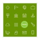 Satz Reise-Feiertags-Vektor-Illustrations-Elemente kann als Logo oder Ikone in der erstklassigen Qualität benutzt werden Stockbild
