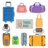Satz Reisetaschen Lizenzfreies Stockfoto