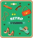 Satz Retro- Mode Lizenzfreie Stockbilder