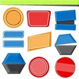 Satz rotes blaues und gelbes baner Lizenzfreie Stockfotos