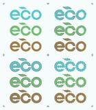 Satz runder Form Eco Stockbild