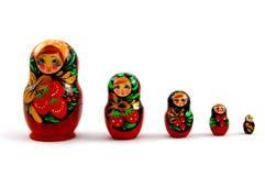 Satz russische Puppen lizenzfreie stockbilder