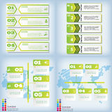 Satz saubere Zahlfahnen des modernen Designs benutzt für Websiteplan Infographic Lizenzfreie Stockfotos