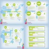 Satz saubere Zahlfahnen des modernen Designs benutzt für Websiteplan Infographic Lizenzfreie Stockbilder