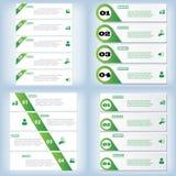 Satz saubere Zahlfahnen des modernen Designs benutzt für Websiteplan Infographic Lizenzfreie Stockfotografie