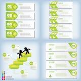 Satz saubere Zahlfahnen des modernen Designs an benutzt für Websiteplan Infographic Lizenzfreie Stockbilder