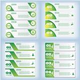 Satz saubere Zahlfahnen des modernen Designs an benutzt für Websiteplan Infographic Stockfoto