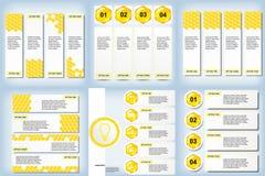 Satz saubere Zahlfahnen des modernen Designs mit dem Geschäftskonzept verwendet für Websiteplan oder Websitedesign Lizenzfreies Stockfoto
